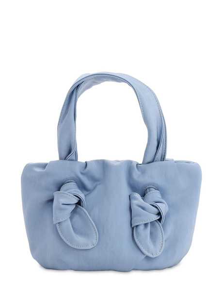 STAUD Ronnie Nylon Top Handle Bag in blue