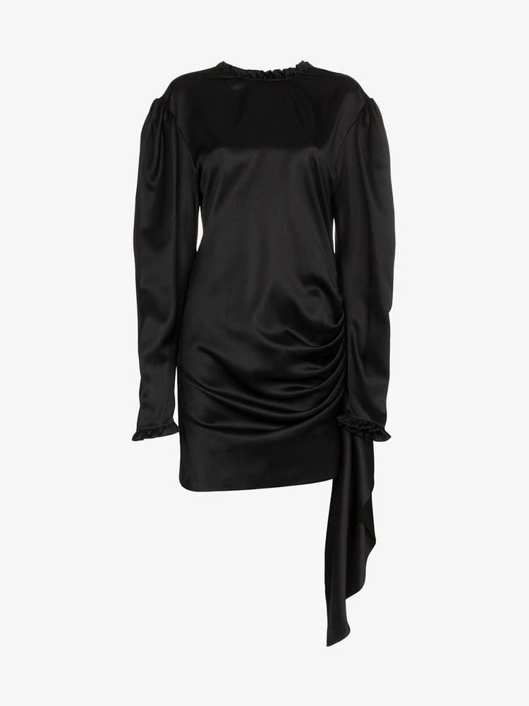 Magda Butrym silk backless torance dress in black