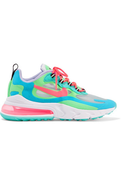 Nike - Air Max 270 React Felt And Ripstop Sneakers - Green