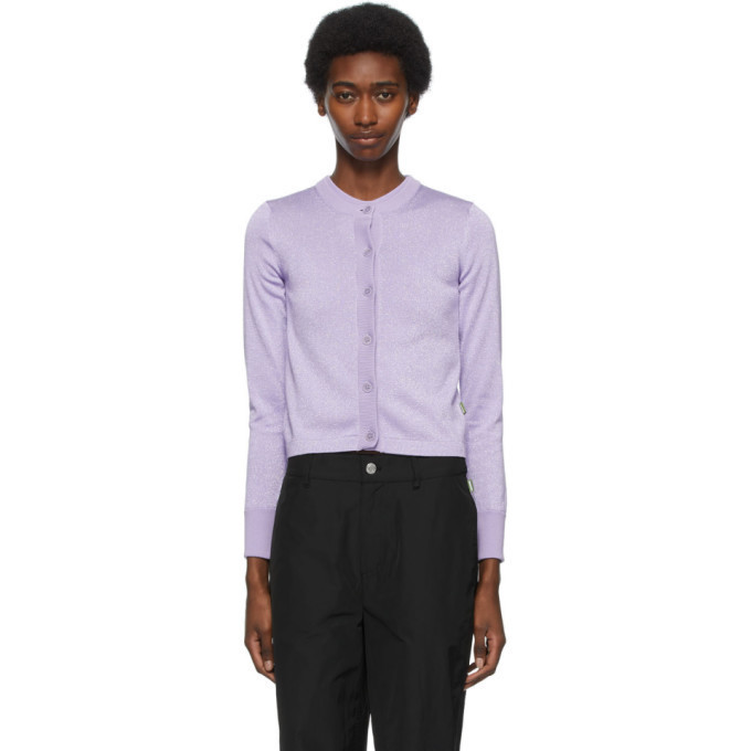 Marc Jacobs Purple Heaven by Marc Jacobs Sparkle Cardigan in lilac