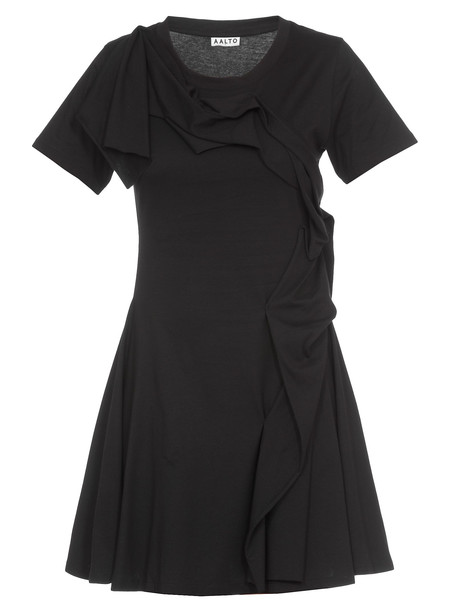 AALTO Dress With Frills in black