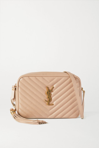 SAINT LAURENT - Lou Medium Quilted Leather Shoulder Bag - Beige