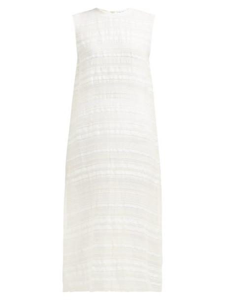 Raey - Split Side Woven Stripe Tunic Dress - Womens - Ivory