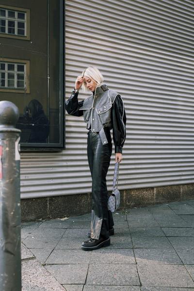 lisa rvd blogger jacket shirt pants bag shoes