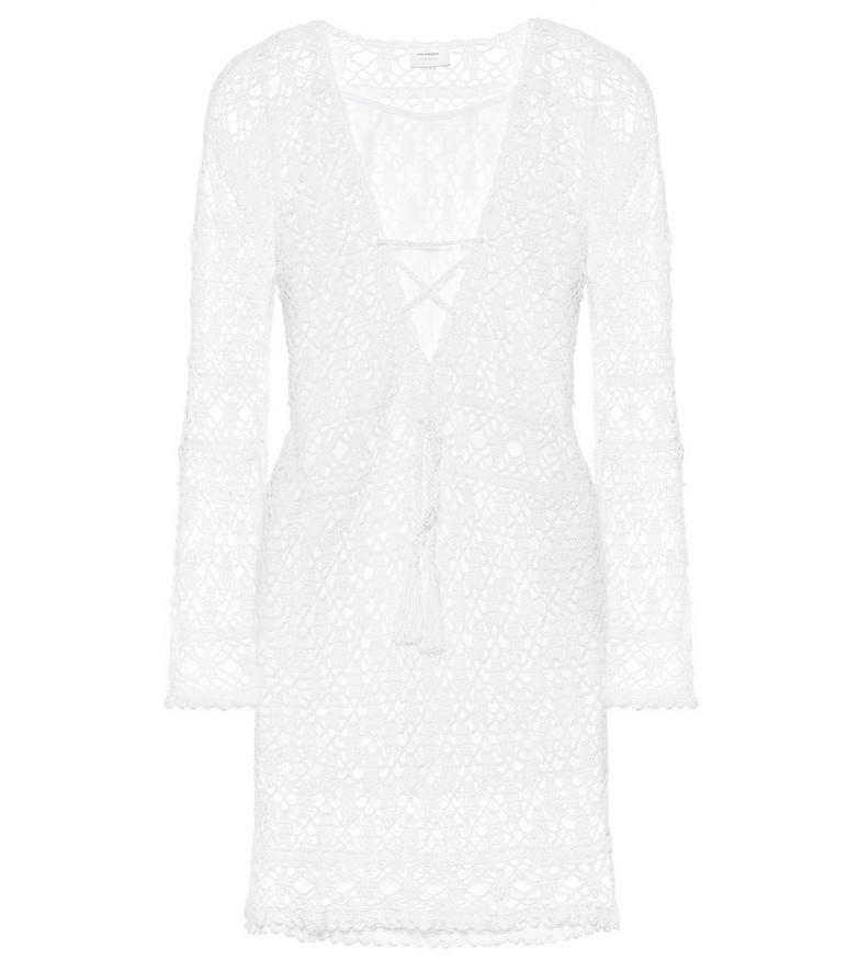 Anna Kosturova Bianca crochet cotton minidress in white