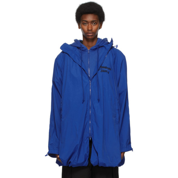 Juun.J Blue Reebok Edition Windbreaker Jacket