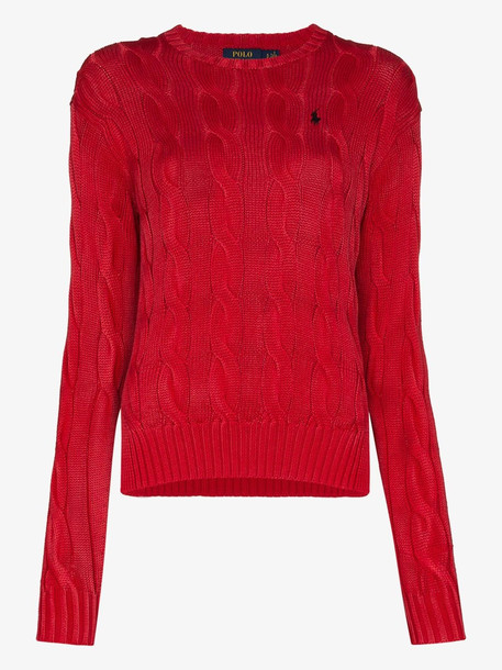 Polo Ralph Lauren cable-knit jumper in red
