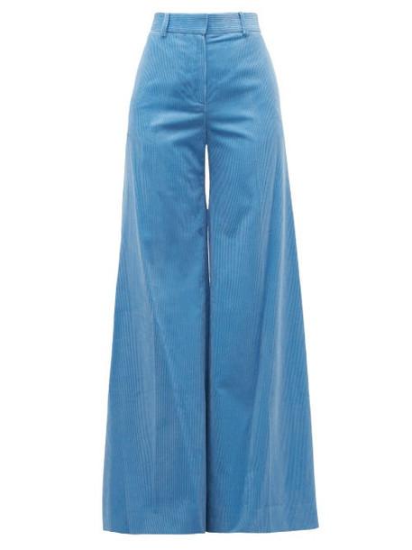 Bella Freud - Bianca Cotton Corduroy Wide Leg Trousers - Womens - Blue