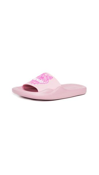 KENZO Tiger Pool Slides in pink