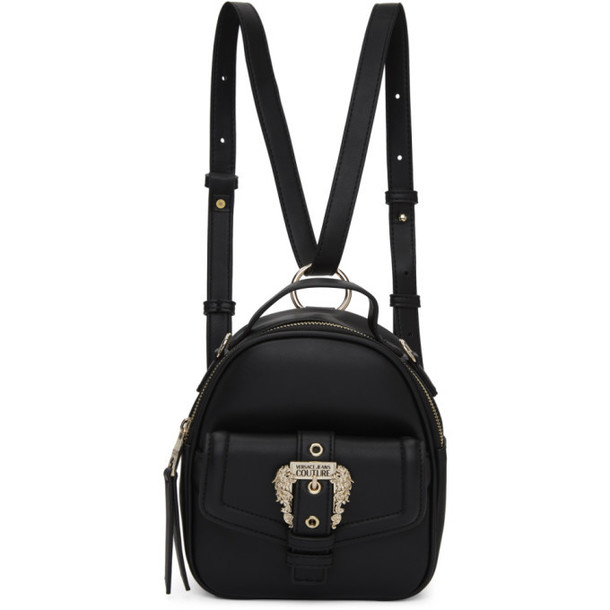 Versace Jeans Couture Black Small Vintage Buckle Backpack