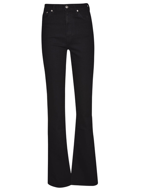 Helmut Lang High Waisted Bootcut Jeans in black