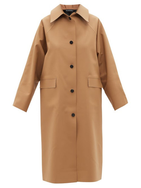 Kassl Editions - Original Below Rubber Trench Coat - Womens - Light Beige