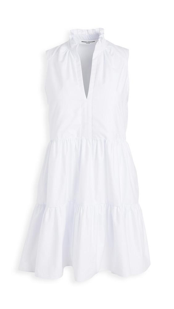 Amanda Uprichard Sleeveless Saffron Dress in white