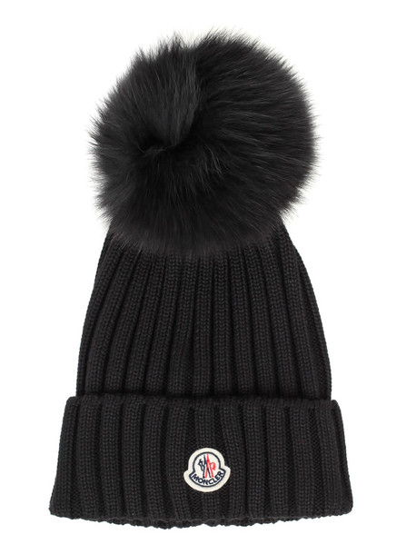 Moncler Hat W/logo in black
