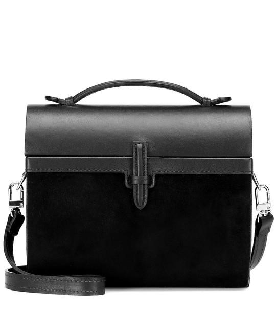 Hunting Season The Gigi Trunk suede shoulder bag in black