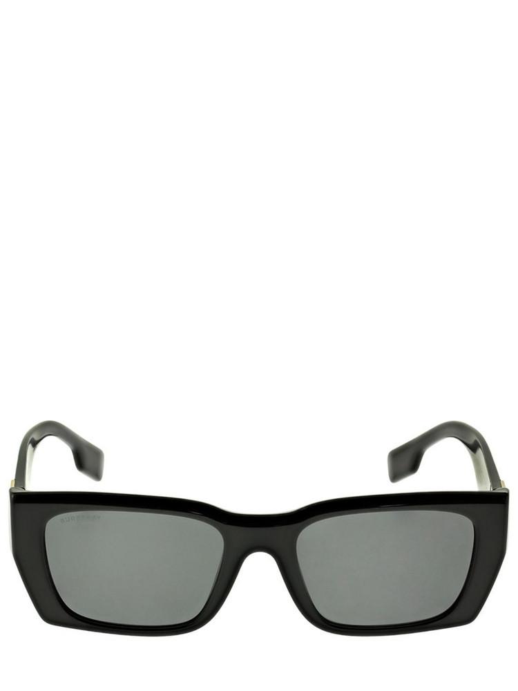 BURBERRY B Logo Squared Acetate Sunglasses in black