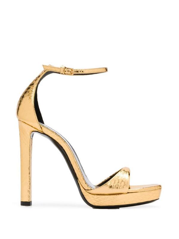 Saint Laurent metallic 120 sandals in gold