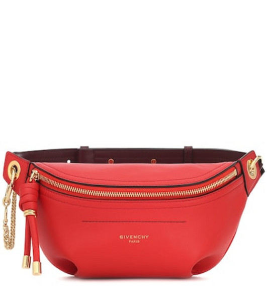Givenchy Whip Small leather belt bag in red