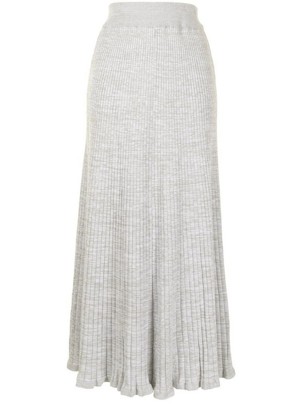 Anna Quan ribbed-knit ankle-length skirt in grey