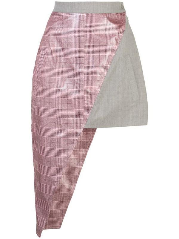 Natasha Zinko asymmetric mini skirt in grey