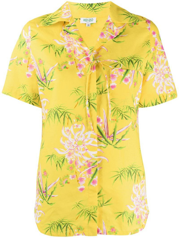 Kenzo floral print shirt in yellow