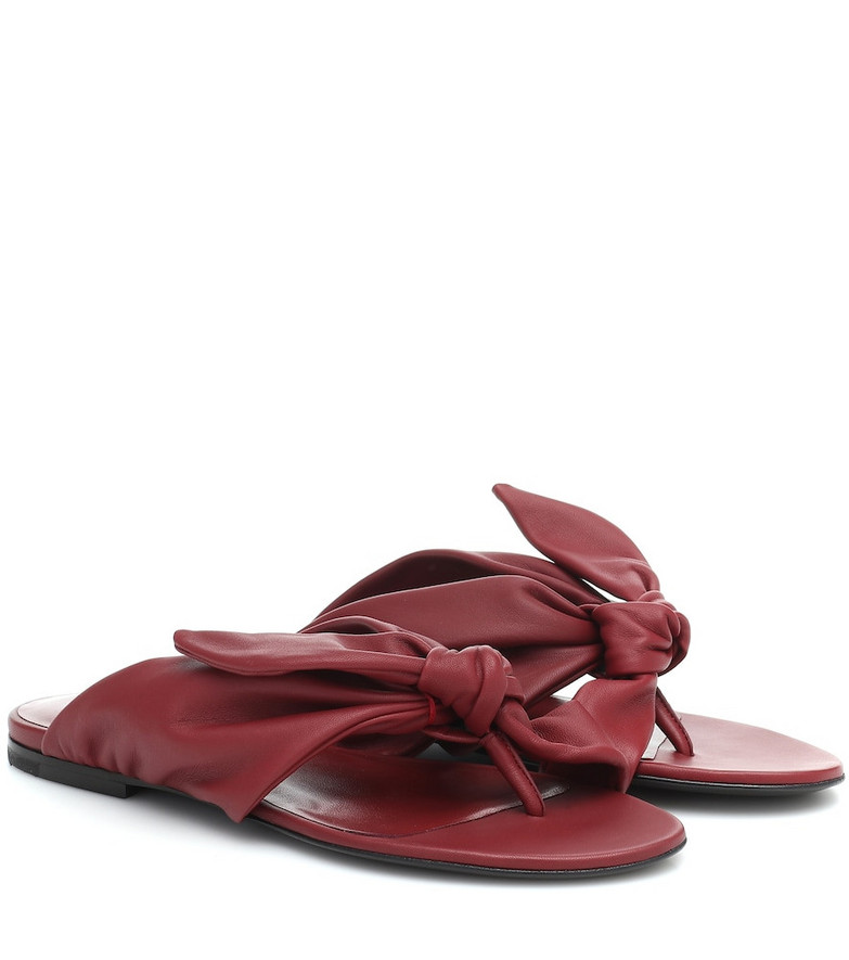Jil Sander Leather sandals in red