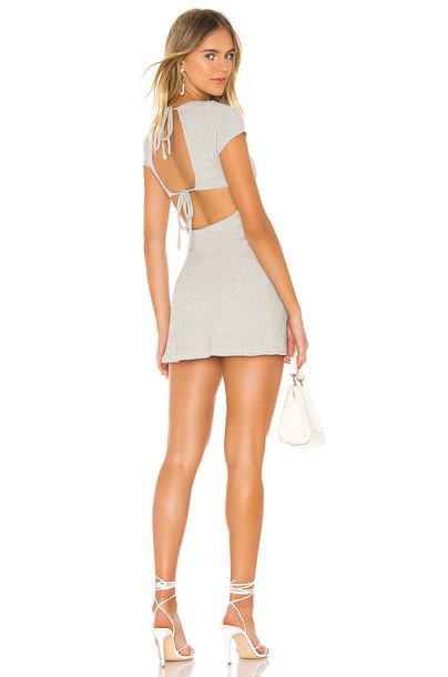 Privacy Please Marengo Mini Dress in gray