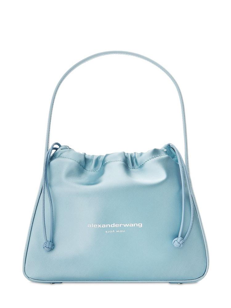 ALEXANDER WANG Ryan Small Satin Bag in blue