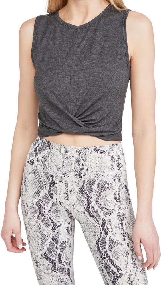 Alo Yoga Cover Tank in anthracite