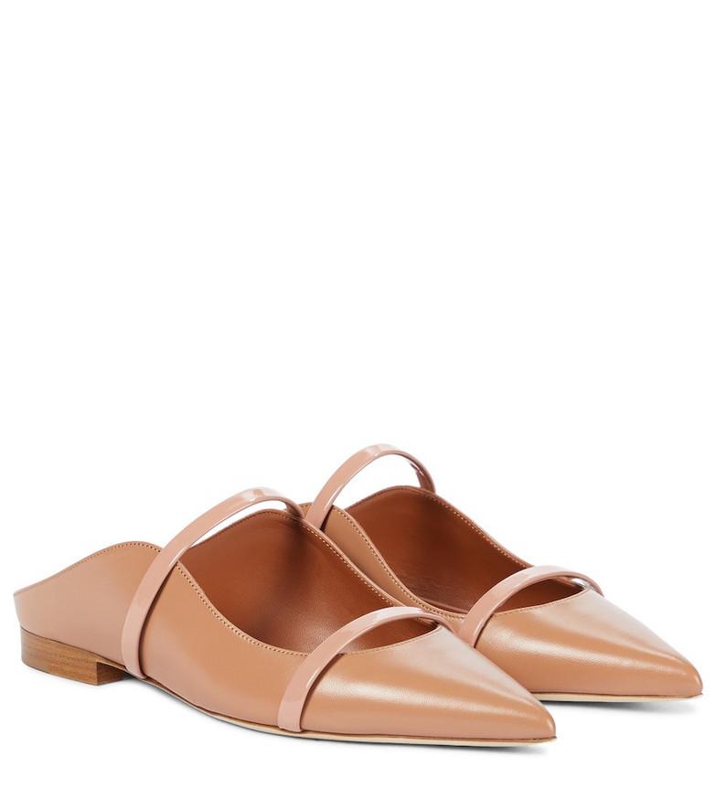 Malone Souliers Maureen leather slippers in beige