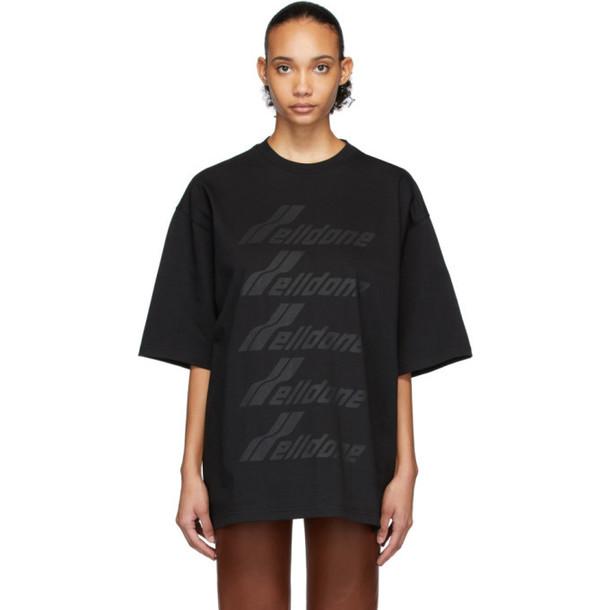 We11done Black Front Logo T-Shirt