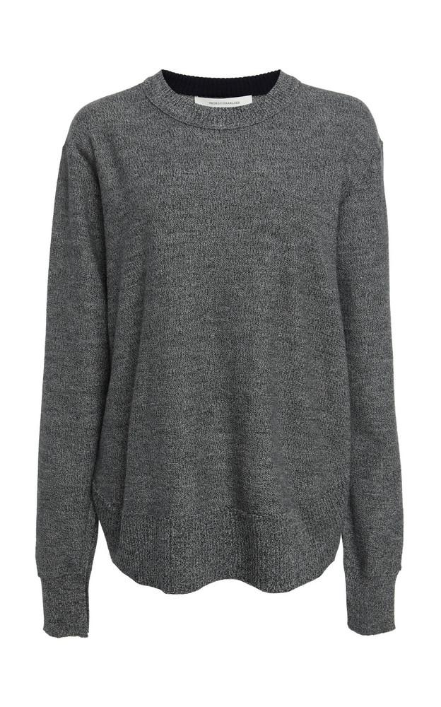 Cédric Charlier Wool Crewneck Sweater in grey