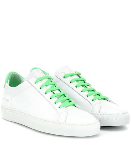 Common Projects Retro Low leather sneakers in white