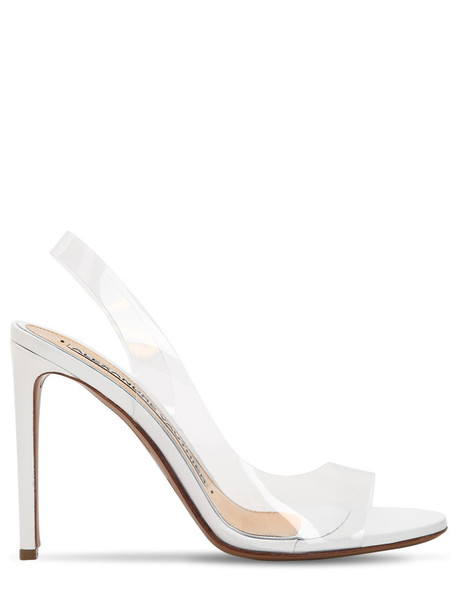 ALEXANDRE VAUTHIER 100mm Amber Ghost Pvc Sandals in transparent