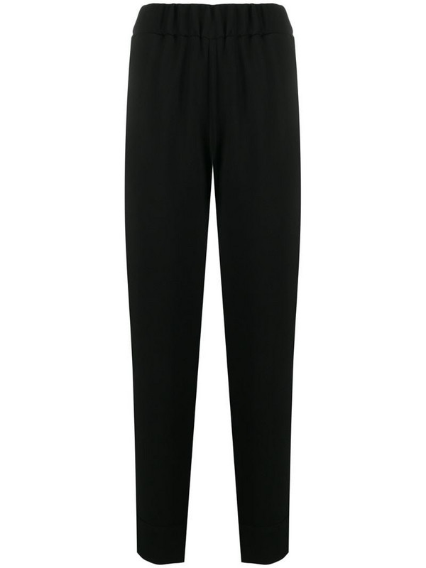 Alberto Biani pull-on tapered trousers in black