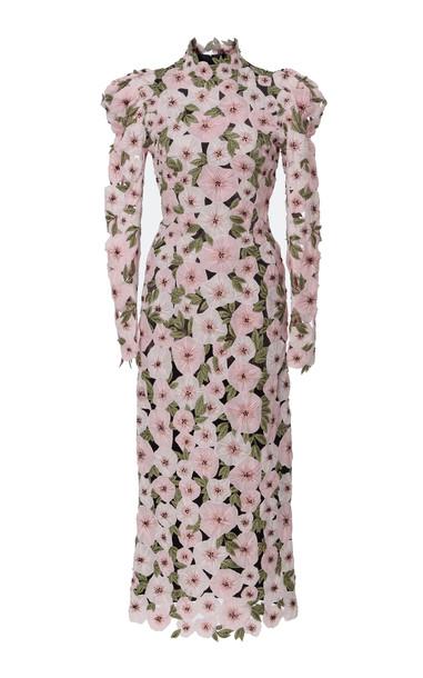 Erdem Jessamine Contrast Silk Dress