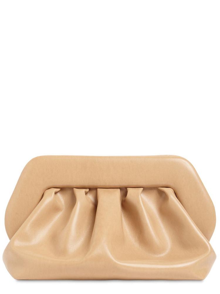 THEMOIRÈ Bios Faux Leather Clutch in beige