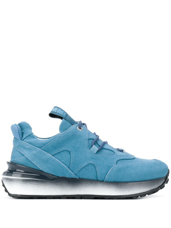 Mr & Mrs Italy low-top lace up trainers in blue