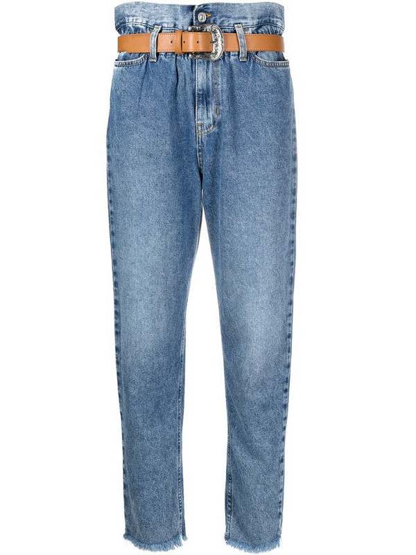 LIU JO Candy high-waisted cropped jeans in blue