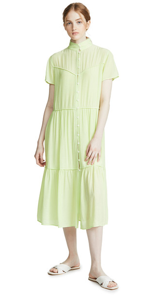 Rag & Bone Libby Short Sleeve Dress in green
