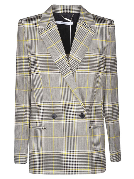 Givenchy Double Breasted Blazer in black / yellow