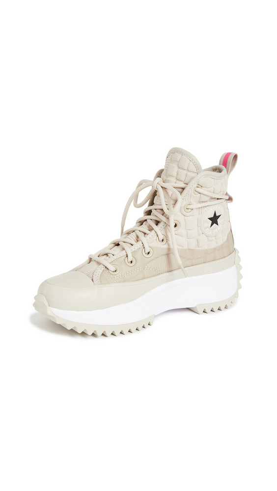 Converse Run Star Hike Digital Terrain Sneakers in pink / white