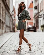 shoes,white sandals,high heel sandals,High waisted shorts,shirt,white top