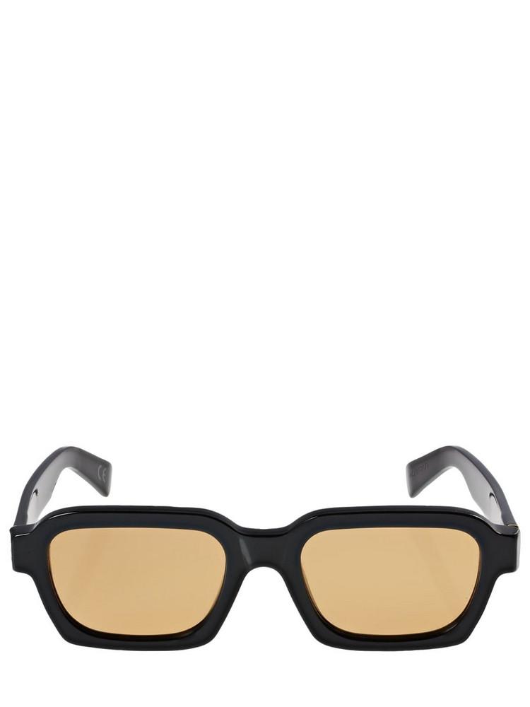 RETROSUPERFUTURE Caro Refined Acetate Sunglasses in black / orange