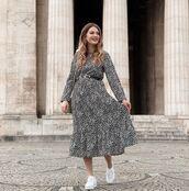 dress,black dress,long sleeve dress,white sneakers,bag