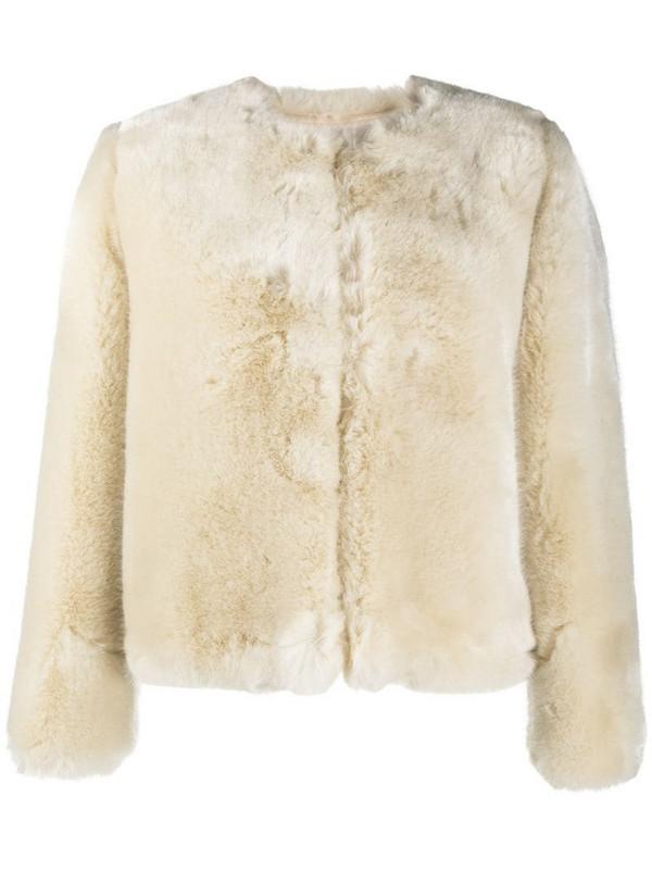 A.P.C. faux fur jacket in neutrals
