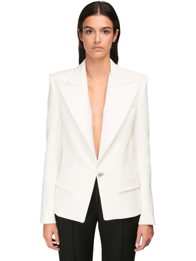 ALEXANDRE VAUTHIER Compact Crepe Blazer Jacket in white