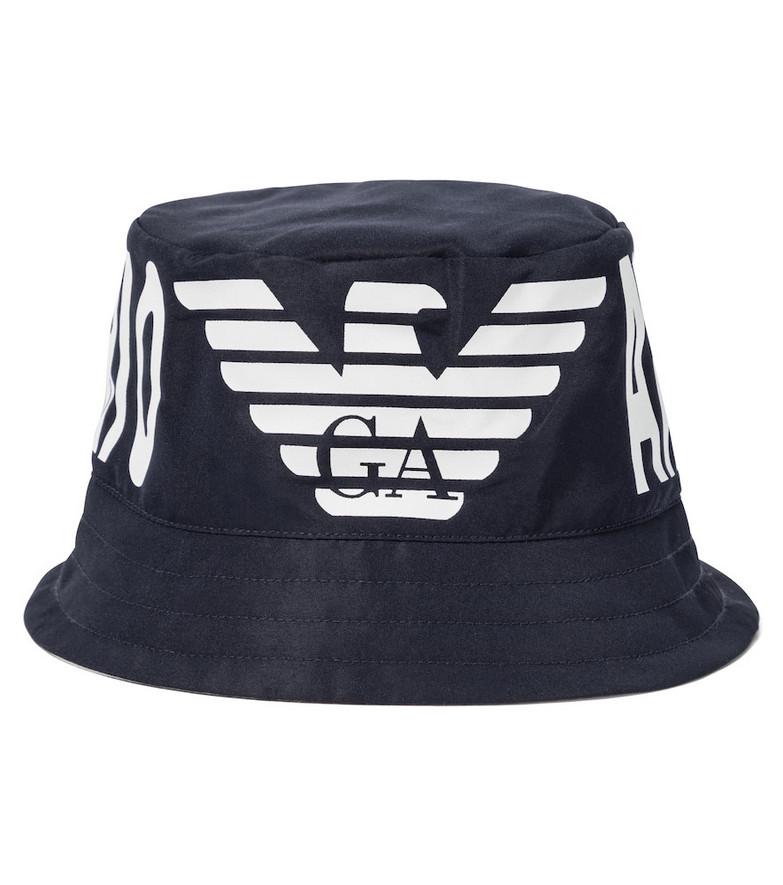 Emporio Armani Kids Baby logo hat in blue