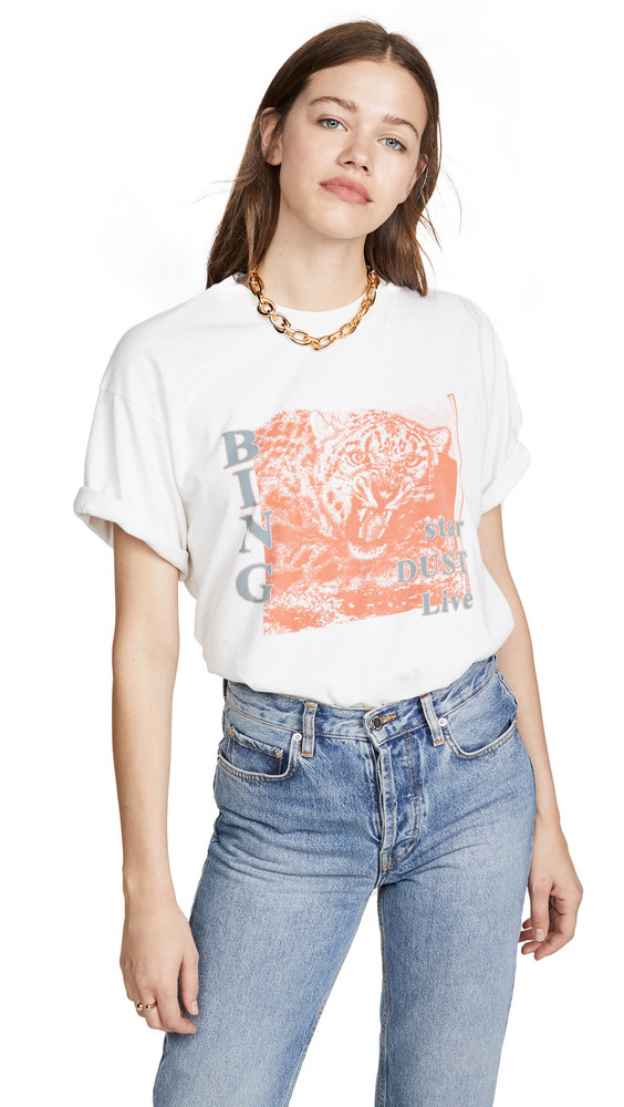 ANINE BING Panther Dust Tee in cream