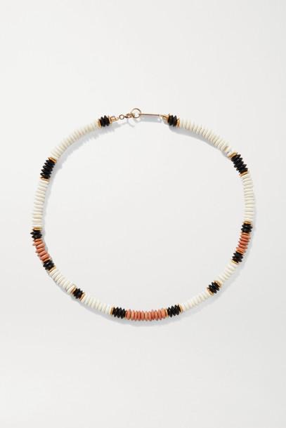 ISABEL MARANT - Gold-tone Bone Necklace - Ivory